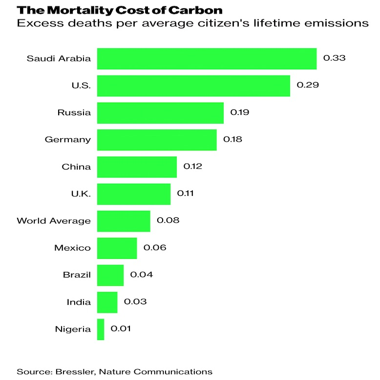 Mortality Cost of Carbon